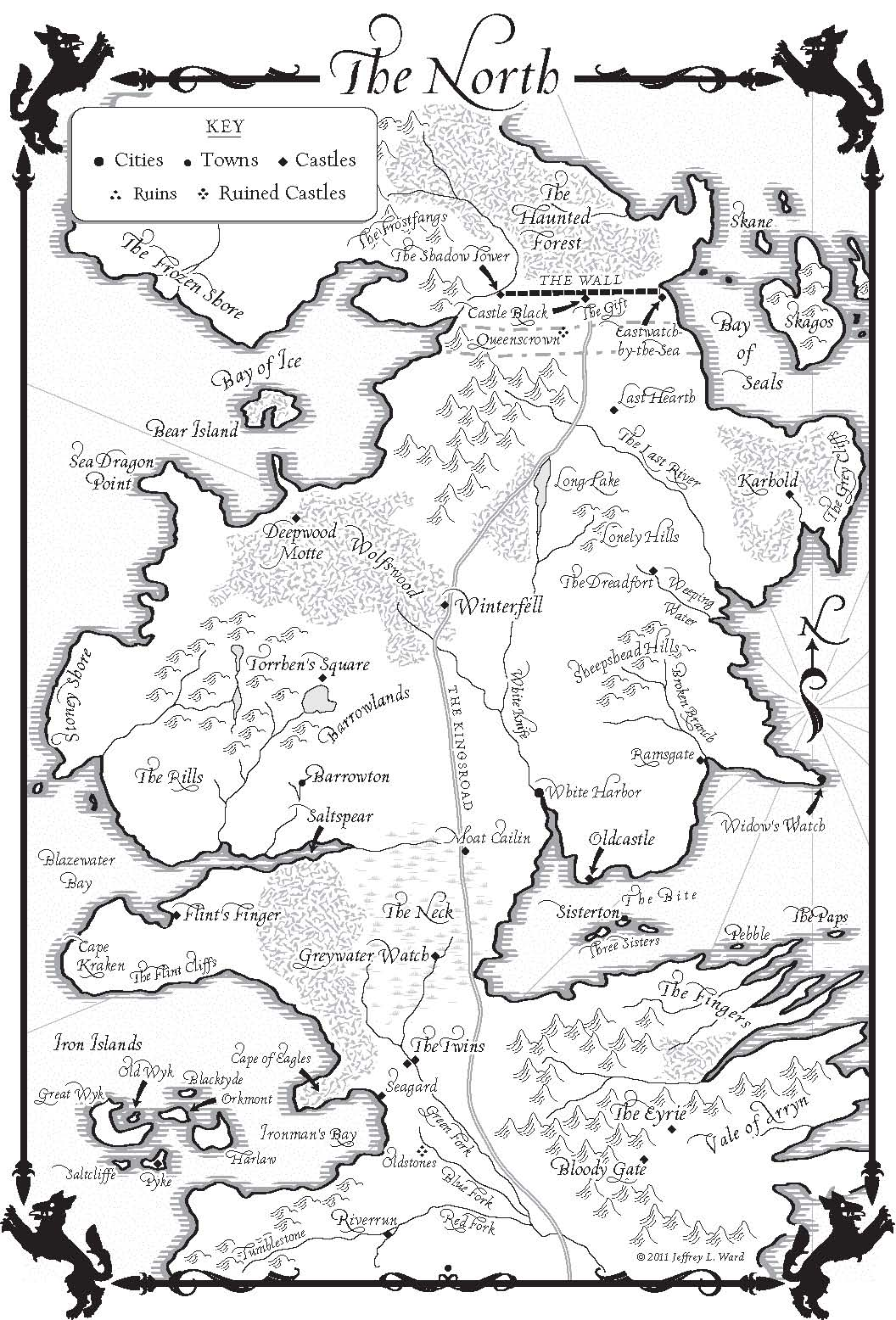 photograph about Game of Thrones Printable Map known as A Activity of Thrones Maps - Random Home Guides