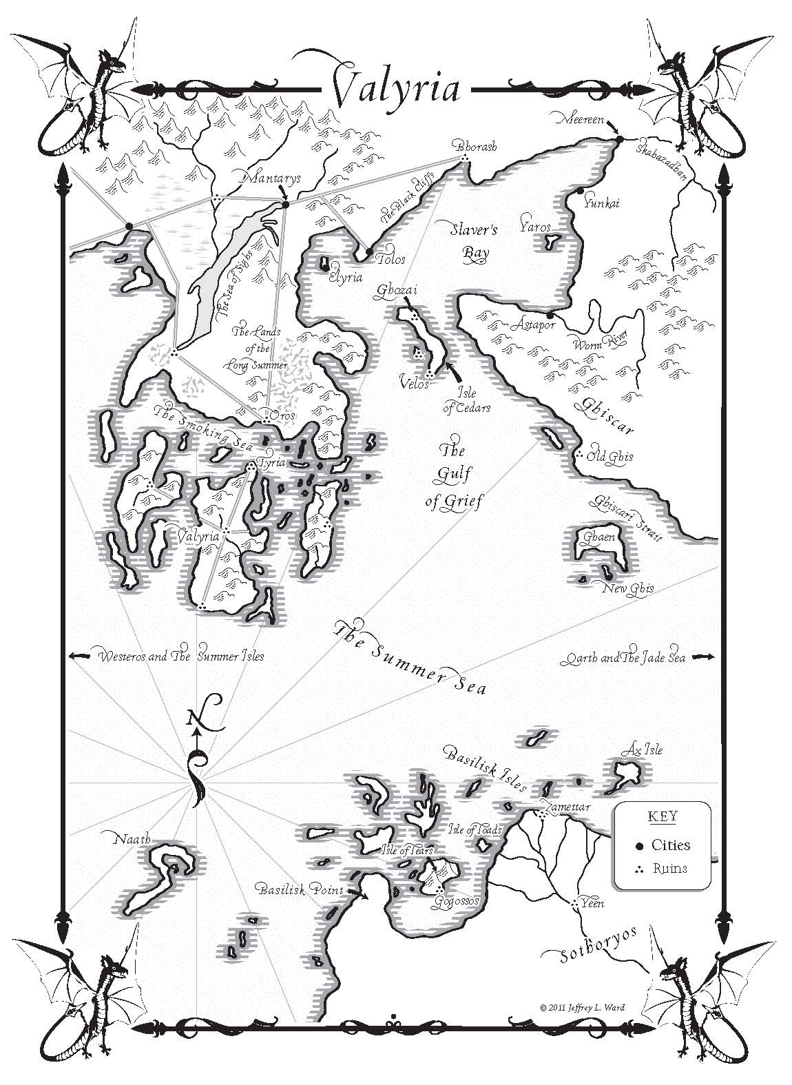 photo relating to Game of Thrones Printable Map named A Dance with Dragons Maps - Random Area Textbooks